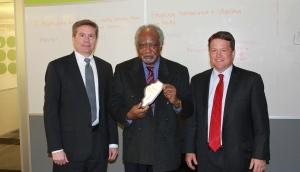 Burwood Group CEO Mark Theoharous, Congressman Danny Davis, and Burwood Group President, Jim Hart.