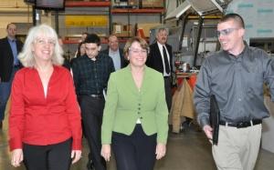 Senator Klobuchar meets with the employee owners of Douglas Machine, Inc.