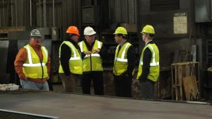 Congressman Raul Labrador meets with the employee owners of Pacific Steel & Recycling.
