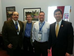 Illinois Chapter members visit with Congressman Brad Schneider (D-IL).