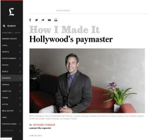 Entertainment Partners LA Times Clip
