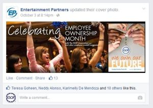 Entertainment Partners EOM 2014 Facebook Post