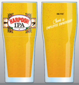Harpoon Brewery EOM glasses