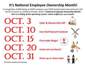 M. Griffith Investments Employee Ownership Month 2014