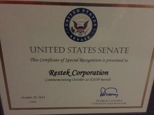 Restek Toomey Certificate for EOM