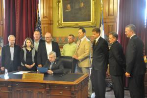 Iowa Governor Terry Branstad officially proclaims October to be Employee Ownership Month in the State of Iowa